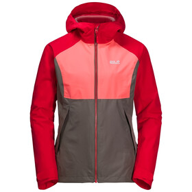 Jack Wolfskin Mount Isa 3in1 Jacket Women clear red